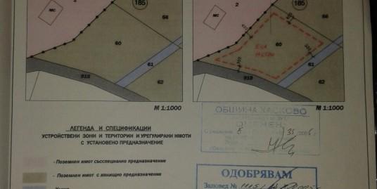 урегулиран парцел за жилищно строителство в м. Казан Топра над телевизионната кула в гр. Хасково