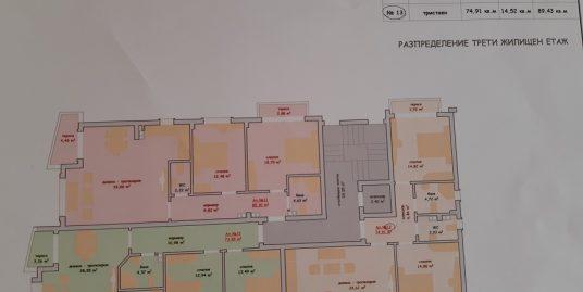 Тристаен апартамент ново строителство в кв. Училищни, град Хасково