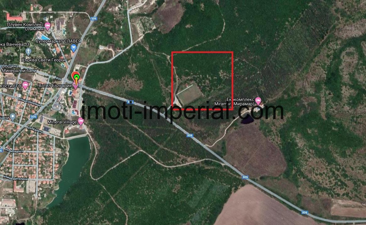 Инвестиционен парцел в регулация в с. Минерални бани, област Хасково