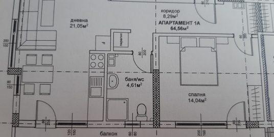 Двустаен апартамент в новострояща се сграда в кв. Дружба, град Хасково